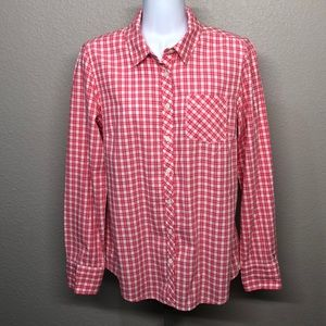 Tommy Hilfiger Pink & White Button Down Shirt